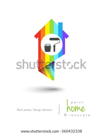 house map pin design painting tools stock vector royalty free