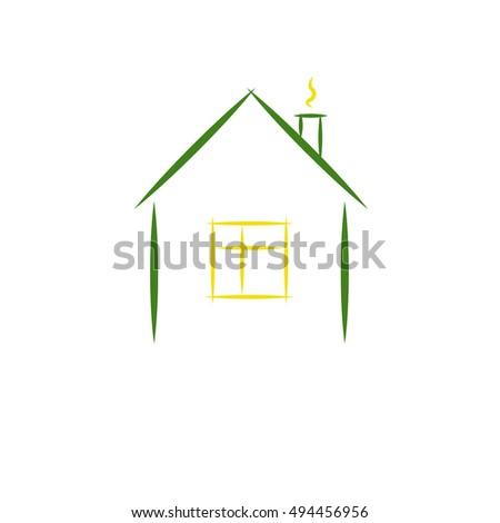House Minimalist Logo Stock Vector Royalty Free 494456956