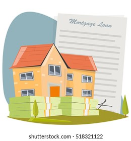 House with mortgage loan