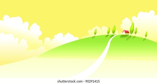 House on a landscape