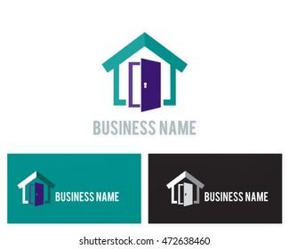 house open door logo