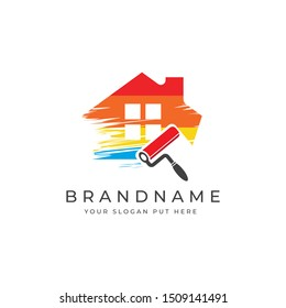 House painting logo design template