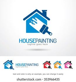 House Painting Logo Template Design Vector