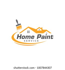house painting and remodeling logo icon vector template
