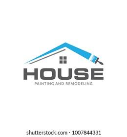 house painter logos interior design 3d
