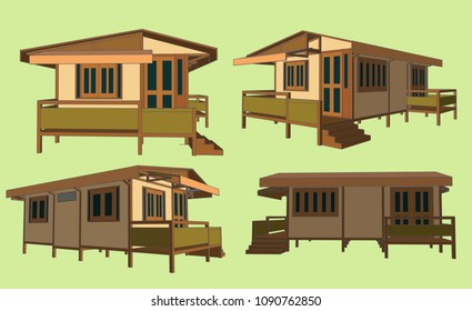 House Perspective Vector & Illustration, image 7