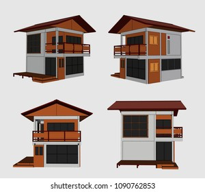 House Perspective Vector & Illustration, image 10