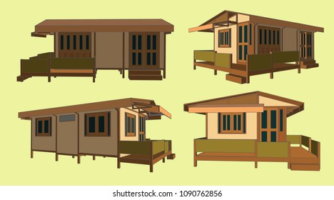 House Perspective Vector & Illustration, image 8