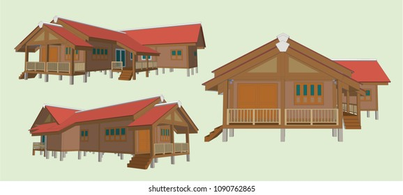 House Perspective Vector & Illustration, image 1