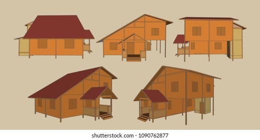 House Perspective Vector & Illustration, image 2