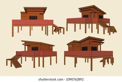 House Perspective Vector & Illustration, image 14