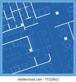 House plan, blueprint vector