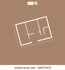 House plan icon vector. Apartment . Architectural project. Building plan