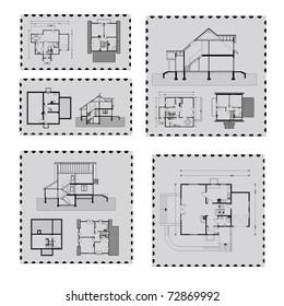 house plan on post mark