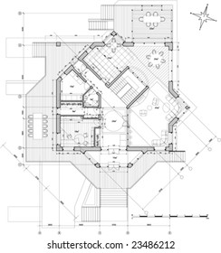 house plan - vector