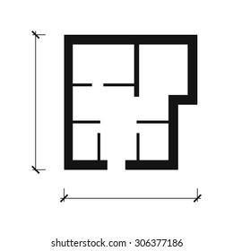 House plan vector icon