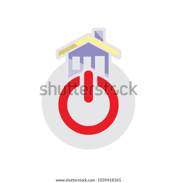 House Power Logo Icon Design