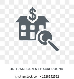 House price surveys icon. Trendy flat vector House price surveys icon on transparent background from Business  collection.