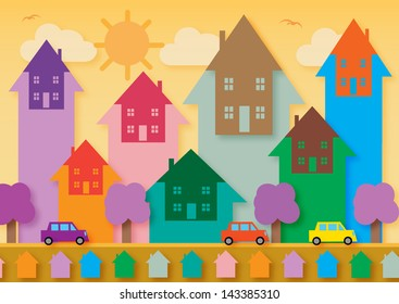 House prices rising, symbolized by arrows with a house shape going up.