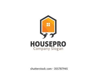 House Pro Logo Symbol Design Illustration