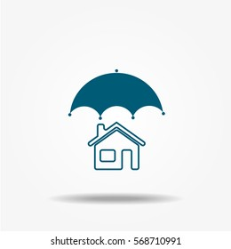 House protection icons, vector symbol