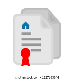 house real estate Contract icon. Attractive and Faithfully Designed Business Document Icon