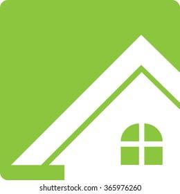 House Real Estate Logo Button