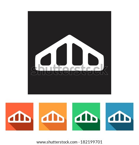 House Remodel Set Flat Colored Simple Stock Vector Royalty Free Interesting A Frame Remodel Set