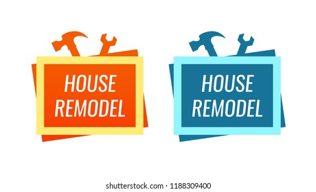 House Remodel - Style Logo for Home Renovation Service
