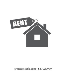 House for rent vector icon