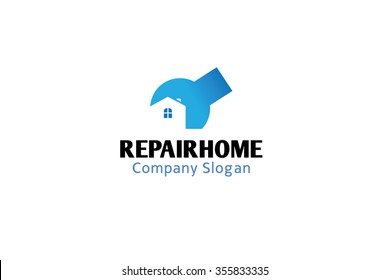 House Repair Logo Symbol Design Illustration