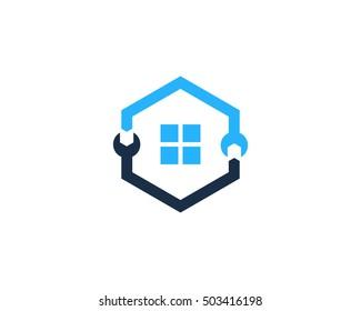 House Repair Service Logo Design Template