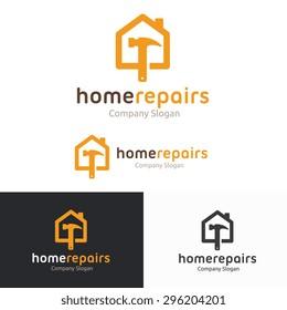 House  Repairs Shop Logo Template