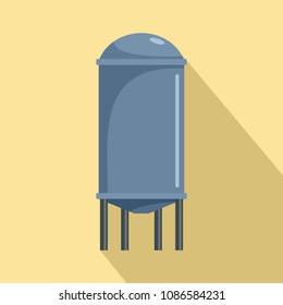 House reservoir water tank icon. Flat illustration of house reservoir water tank vector icon for web design