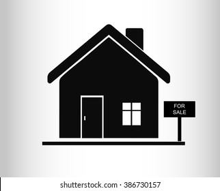 House for sale. Broker symbol. Vector.