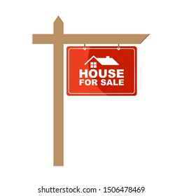House for sale icon. Flat style. Isolated on white background.