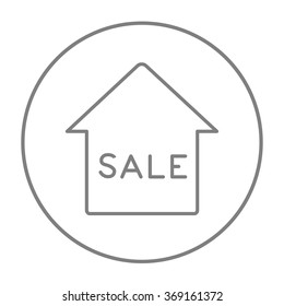 House for sale line icon.