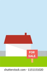 House for sale - vector illustration flat style