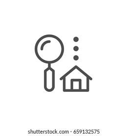 House search line icon