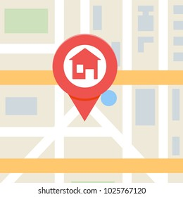 House search vector illustration, real estate concept.