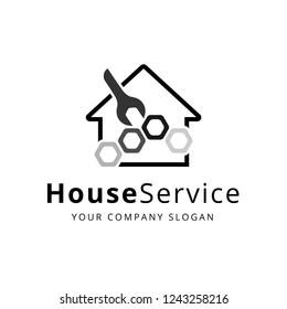 House Service Logo, Vector,illustration