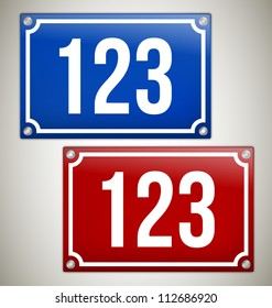 House Signs with place for your text or number