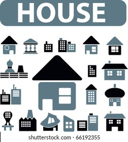 house signs. vector