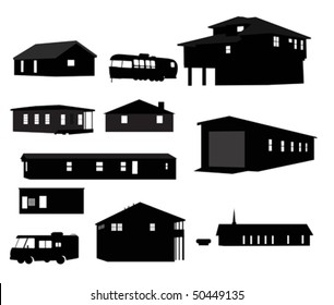 House silhouettes.