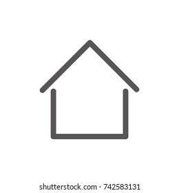 House simple symbol, linear icon