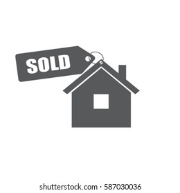 House for sold vector icon
