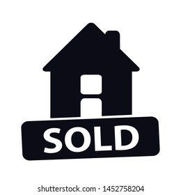 House Sold Vector Icon - Architecture Concept - Isolated On White Background