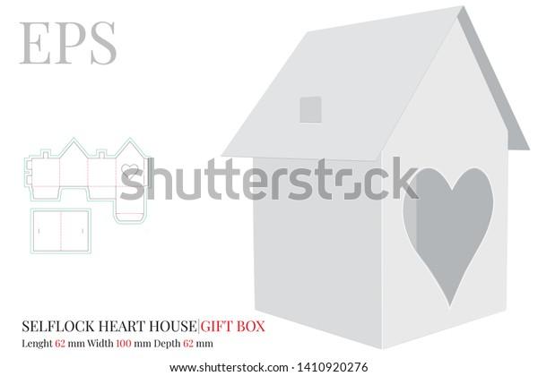 House Template Vector Die Cut Laser Stock Vector Royalty