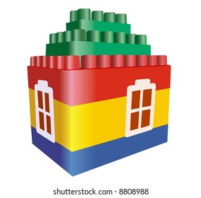 house toy construction vector