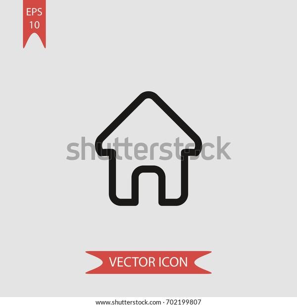House vector icon illustration symbol